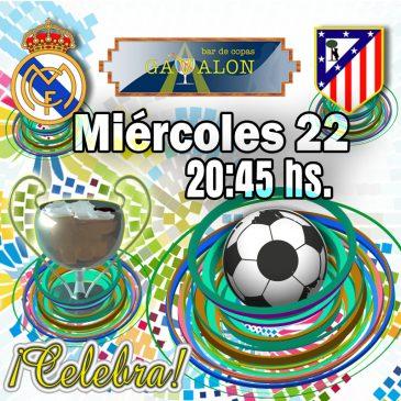 Champions League Real Madrid vs Atlético de Madrid.