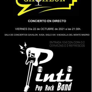 Concierto Pinti Sala Gávalon